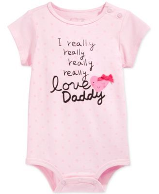 First Impressions Baby Girls' Love Daddy Bodysuit, Only at Macy's | macys.com