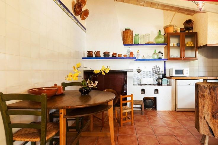 This spacious, converted farmhouse has lots of rustic charm. The furnishings are simple and attractive with exposed beams and stone walls add to the rural feel while red ochre floor tiles contrasts against light pine furniture.  On the ground floor there is the living room with fireplace and dining area, a well equipped kitchen, and two bedrooms (a double and a twin) sharing and shower room. Stairs lead off the dining area up to two further bedrooms and two bathrooms (one of the en-suite)…