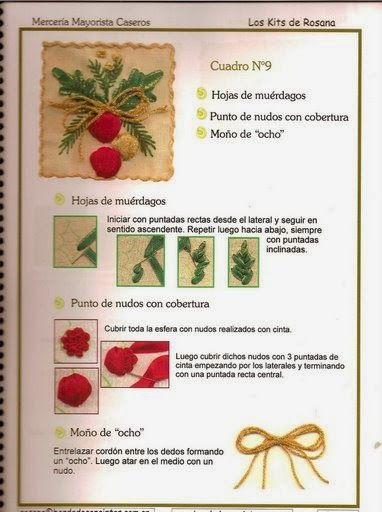 Revistas de manualidades Gratis: Como bordar con cintas
