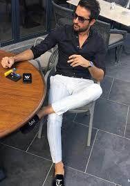 「黒 シャツ メンズ コーデ」の画像検索結果