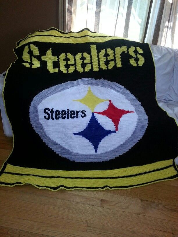 Steelers Crochet Blanket Pattern Crocheted Steelers