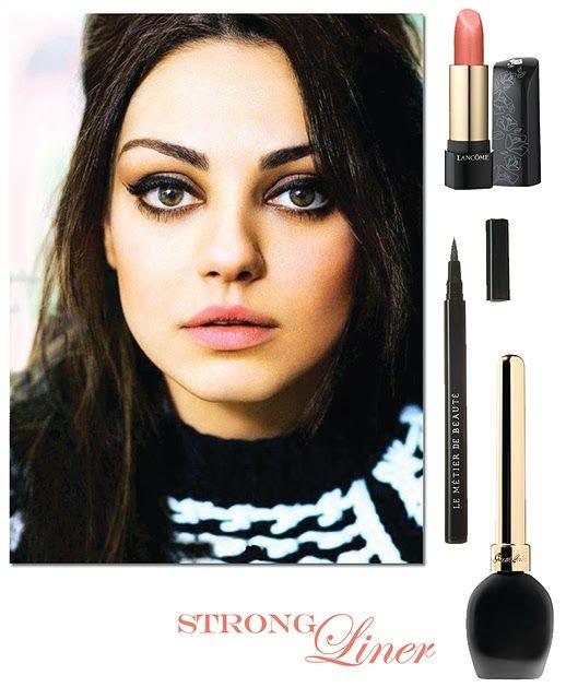 liner and lipsCat Eyeliner, Dark Eyes, Big Eyes, Eyeliner Looks, Makeup, Heavy Eyeliner, Pale Pink, Pink Lips, Eye Liner