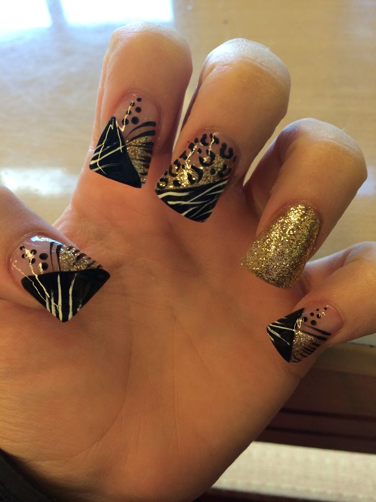 127 best Nails Gold And Brown images on Pinterest | Fingernail ...