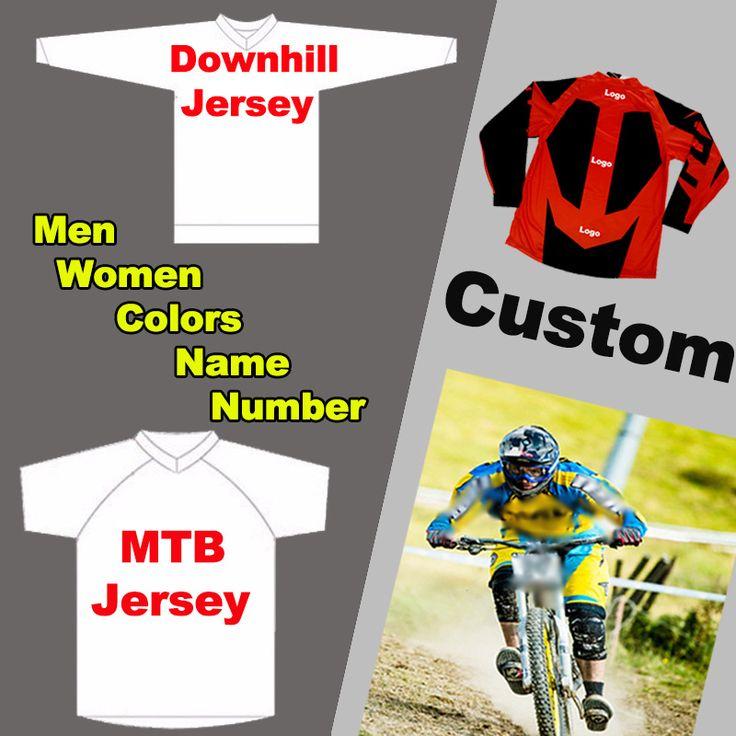 Custom Men Women MTB Jerseys Downhill Mountain Bike Jerseys DH BMX Motorcycle Jerseys Motocross T Shirts Cycling Clothing Ropas #Affiliate