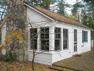 This needs to be mine.....Torch Lake cottage rental - The cottage, looking out on Torch Lake