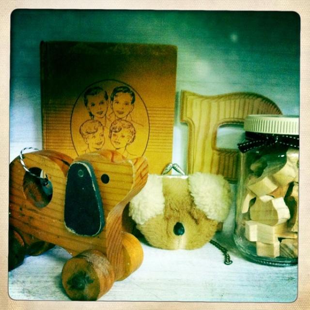 vintage wooden kids' toys