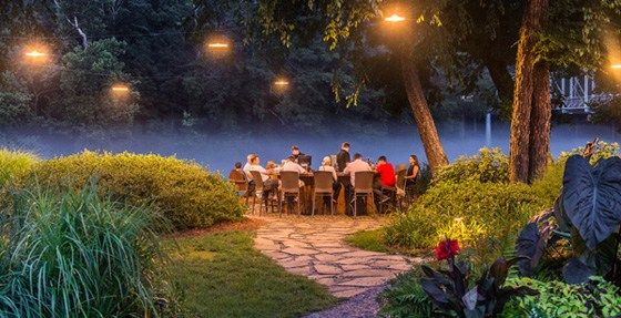 6 Most Romantic Atlanta Dinners with a View Pictured: Canoe Restaurant