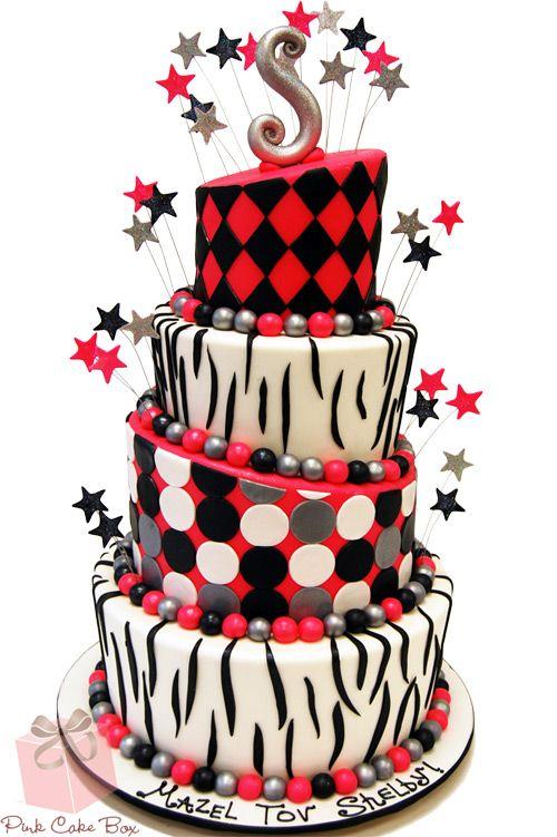 topsy turby cakes zebra   Pink Zebra Print Bat Mitzvah Cake » Bat Mitzvah Cakes