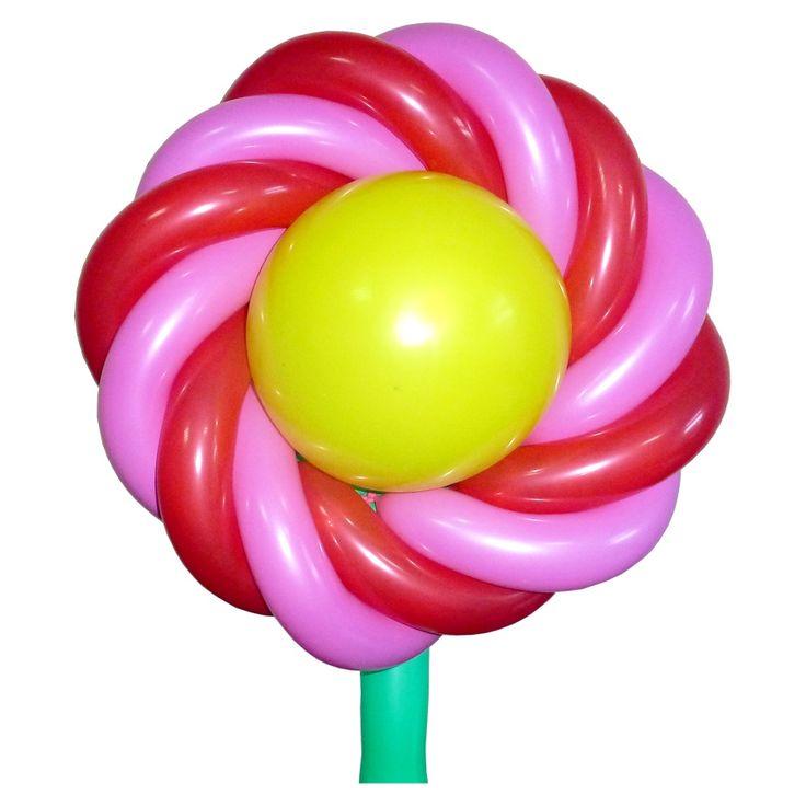 Цветочное украшение из воздушных шаров на детский праздник. Видео: https://youtu.be/GSLrWpUTzh4. Инструкция: http://sharlar.ru/page/plate.html. Цветы из воздушных шаров, flower from balloons.