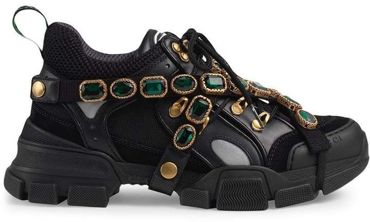 9055f3719 Buy online Gucci Flashtrek sneakers with removable crystals for $1,590.  Purchase today with fast global delivery, new arrivals, new season