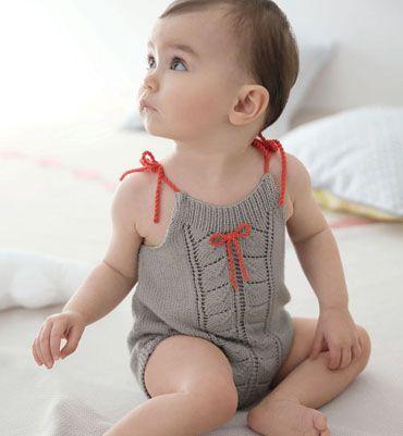 Modèle combinaison layette - tricot expert @Phildar (officiel) (officiel) (officiel) (officiel)