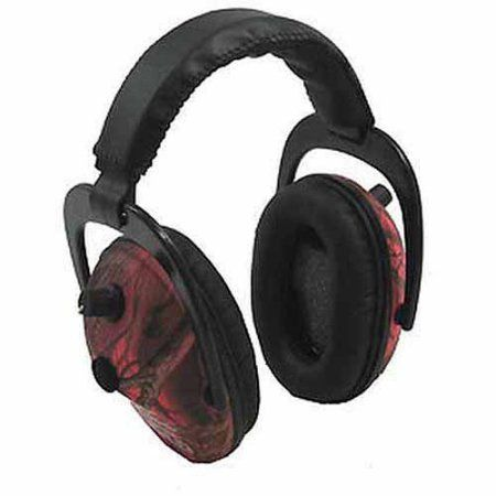Pro Ears Electronic Hearing Protection Predator Gold, NRR 26, RT, Pink Camo