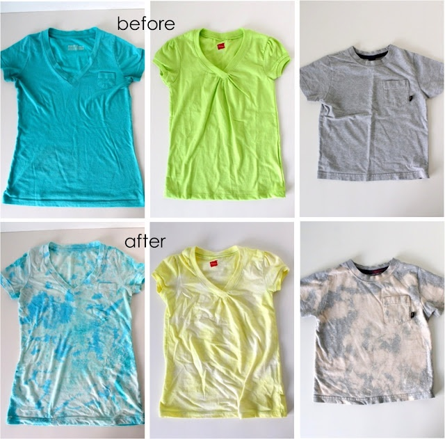 TUTORIAL: Acid Washed Tees. (I am SOO doing this with my green tank top.. and other stuff I have spilled on!)
