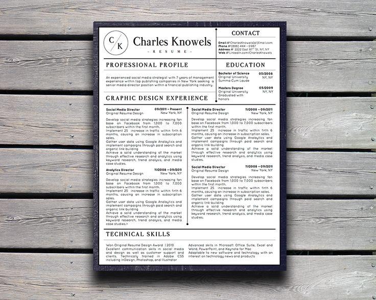 17 migliori immagini su Charles Knowels Modern Professional Resume - modern professional resume template