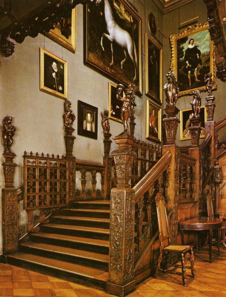 The Main Staircase - Hatfield House - Hertfordshire - England  Childhood home of Elizabeth I