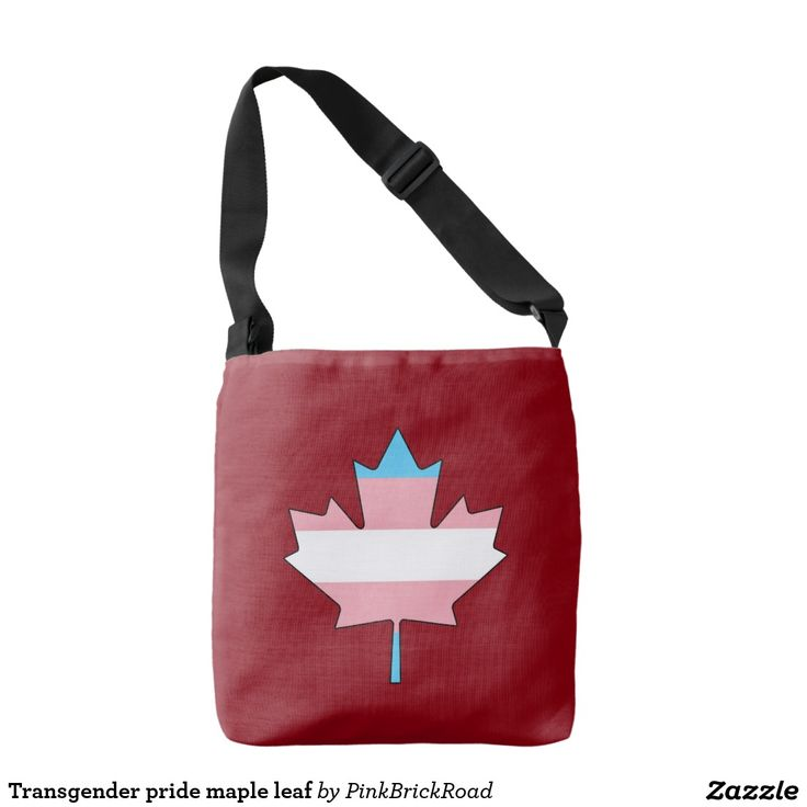 Transgender pride maple leaf tote bag