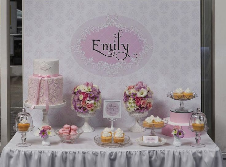 Baptism decorations for girls mesas dulces pinterest for Baby girl christening decoration ideas