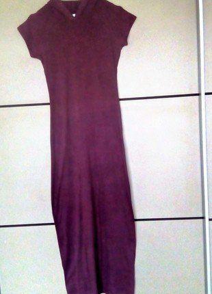 À vendre sur #vintedfrance ! http://www.vinted.fr/mode-femmes/robes-longues/25478476-maxi-robe-longue-moulante-a-capuche-sportwear-violette-taille-38-m