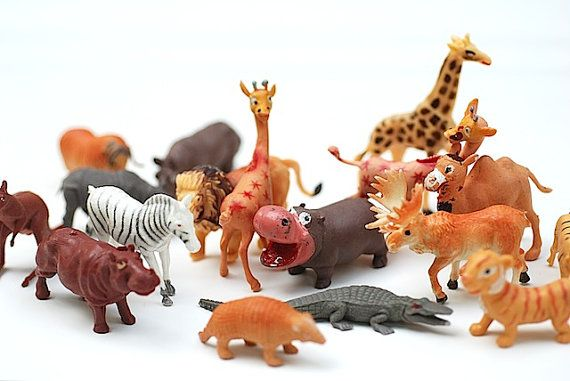 cartoon jungle animals plastic toy figurines made in