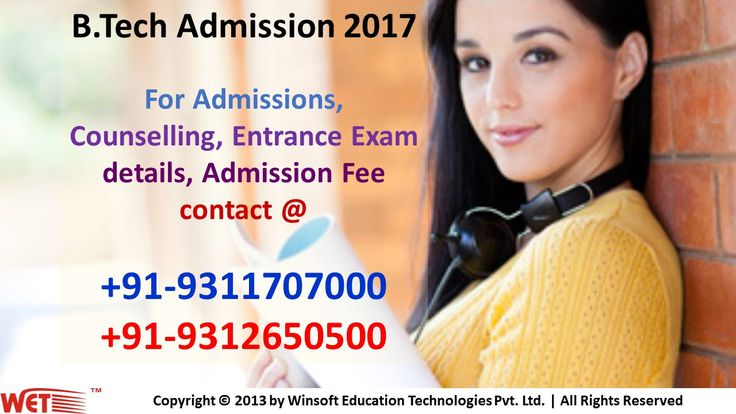 Get detailed information regarding engineering universities in india, affiliation details and other information before getting b.tech admission 2017. For more information contact @ 09311707000, 09312650500.