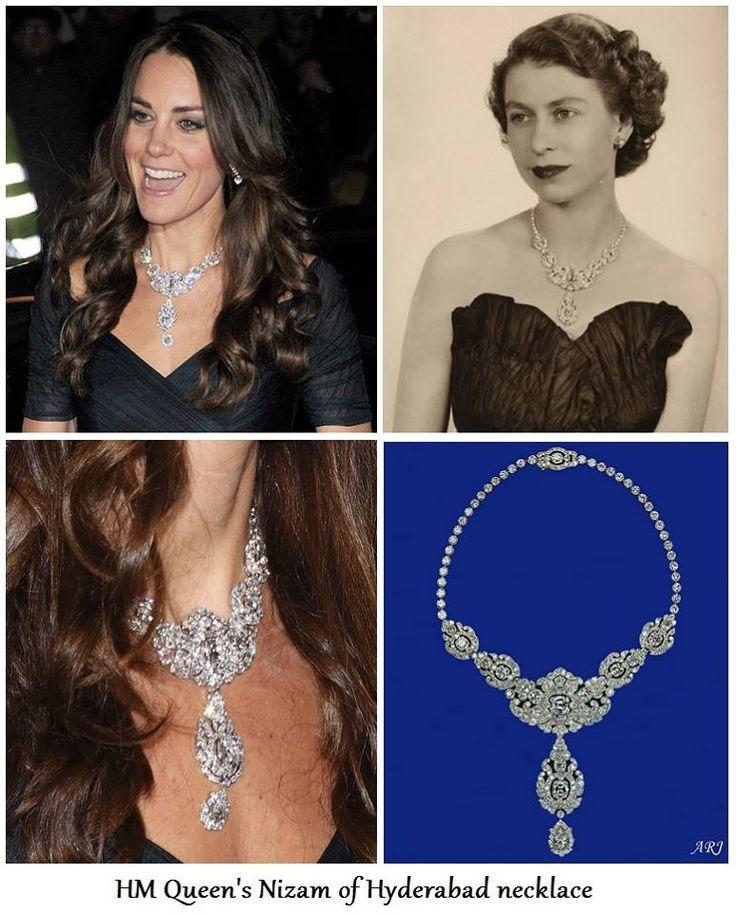 Duchess Katherine wears the Queen's Nizam of Hyderabad Necklace