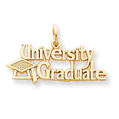 10k University Graduate with Cap Charm