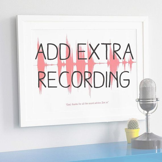 Add Additional Recording for Personalised Your Voice Sound Wave Print. For Dad on Father's Day. For Men on Etsy, $8.44