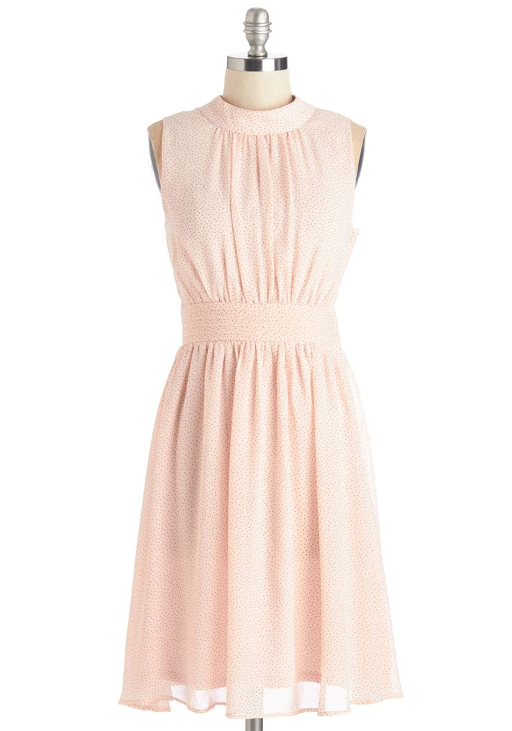 Windy City Dress in Pink Pin Dots, #ModCloth