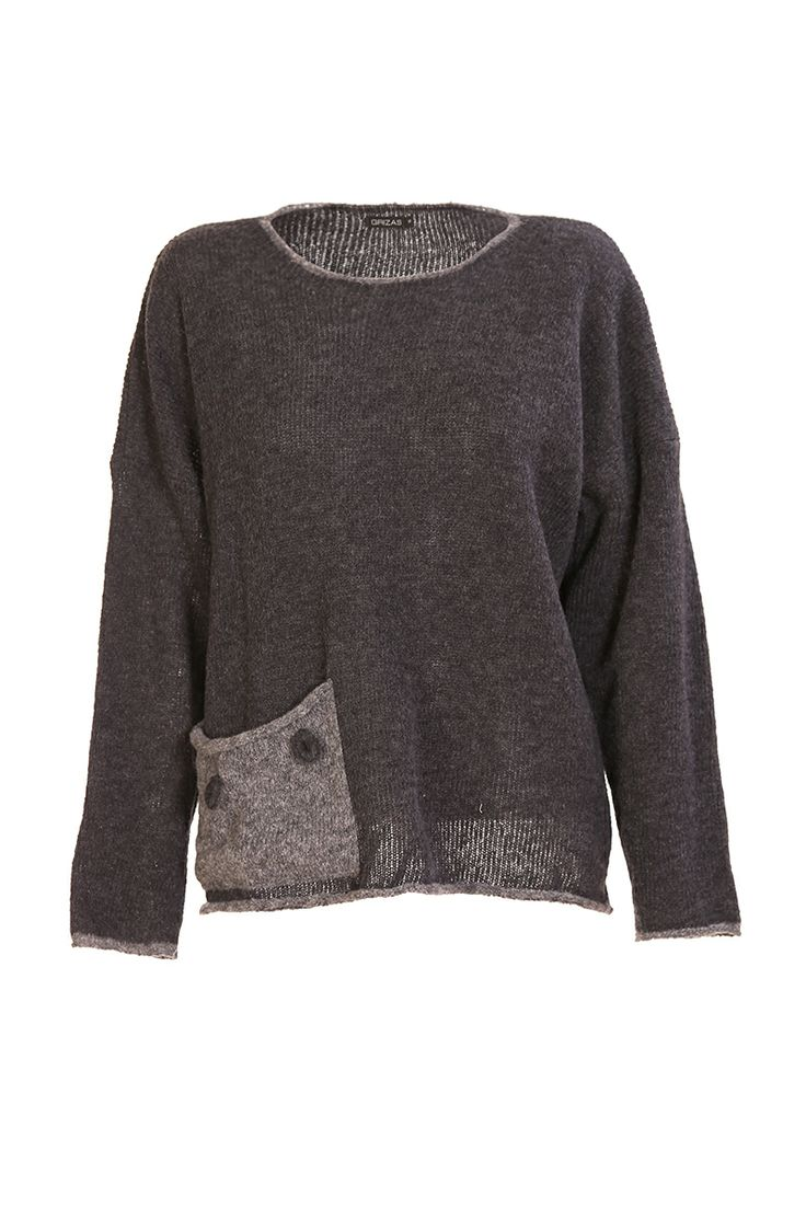 Sweater With Pocket - Grizas