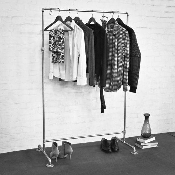 HANSESTADT verzinkt - Kleiderständer / Garderobe inkl. 3 Kleiderhaken - Industriestil - 1