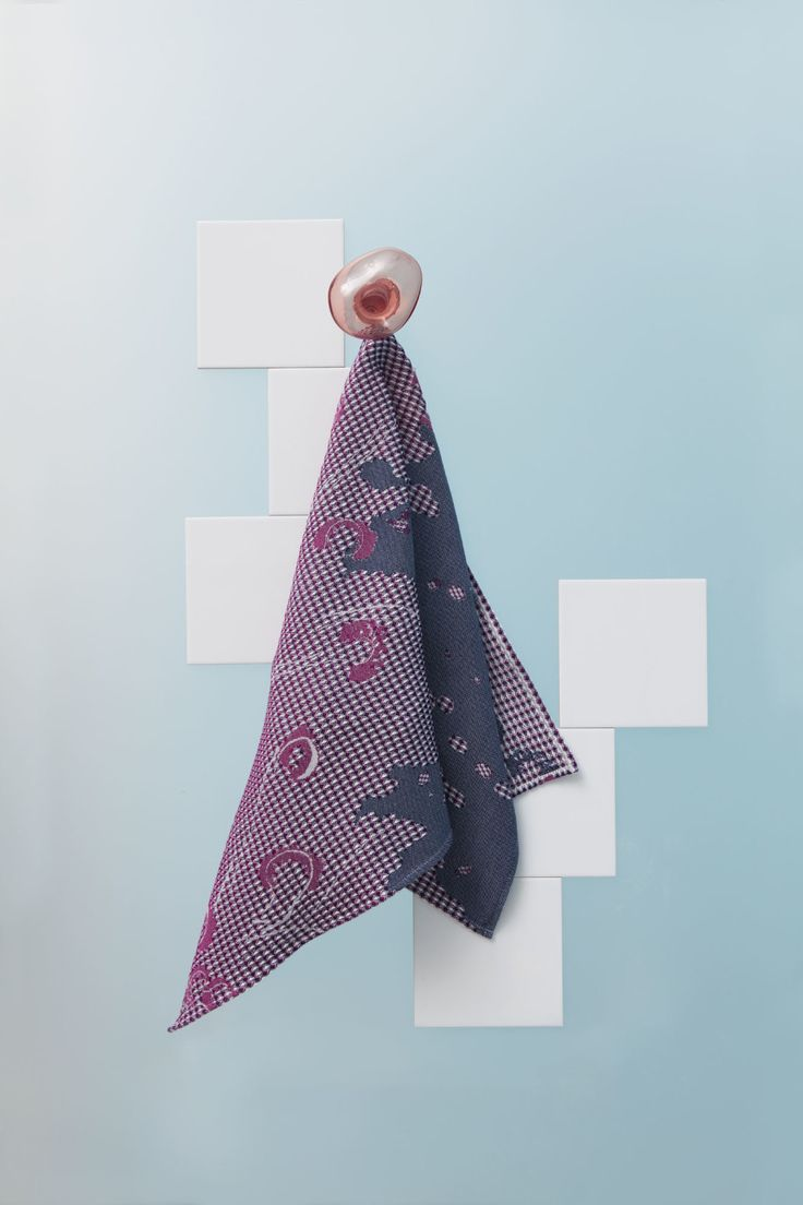 Fungy! Towel N°1 Purple by Roos Soetekouw made in Netherlands on CROWDYHOUSE  #minimal #bathroom #home #decor