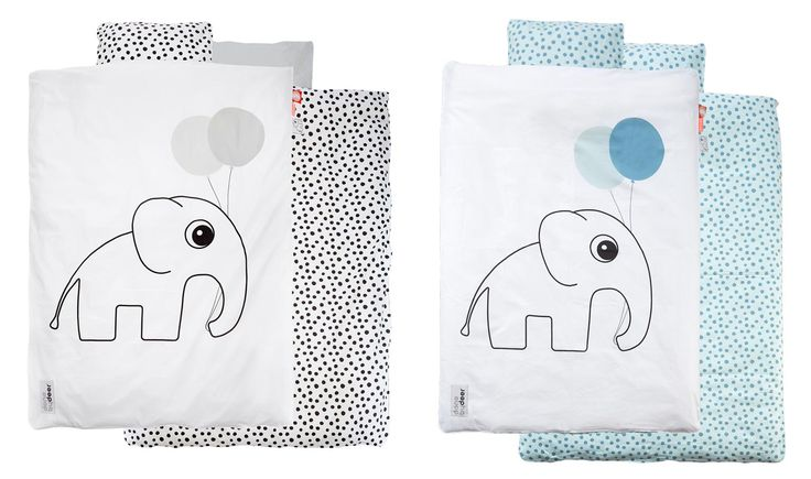 Hochwertige und wunderschöne Babybettwäsche im Elefanten Design aus dem Hause