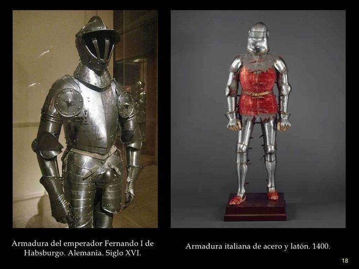 Armadura del emperador Fernando I de Habsburgo. Alemania. Siglo XVI. Armadura italiana de acero y latón. 1400. http://www....