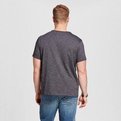 Men's Big & Tall V-Neck Jersey T-Shirt - Merona Black 3XB Tall, Size: 3X Big Tall