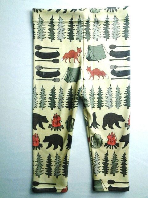 Sweet Kiddo camping leggings, organic cotton, hipster kids, modern leggings