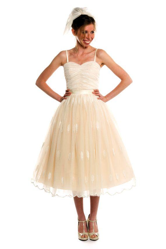 Great Tea Length Tulle Wedding Dress Short Wedding Dress Autumn Style Avail u Company LLC Image by Ozzie Ramsay Photography Evanston IL Wedding