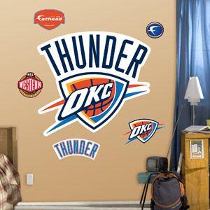 Fathead Oaklahoma City Thunder Logo        http://www.exclusivepackagingny.com/index.html