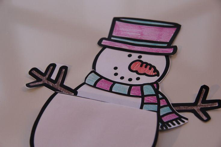Kedves emlék egy hóember-építés után :) Készítsétek el a hóember-építés kiskönyvét a gyerekekkel együtt! A sablont a hírlevélben találod!