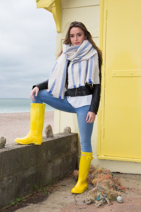 866678cb0cd431 Festival Wellington Boots. Make a statement with some bright and shiny knee  high wellies.