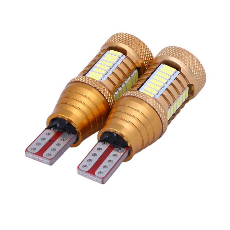 LUXURY 2PCS W16W LED Bulb T15 3014 Car Reverse Light Backup Parking Lamp NO Error Auto Canbus 24W 12V 320lm Xenon White for VW
