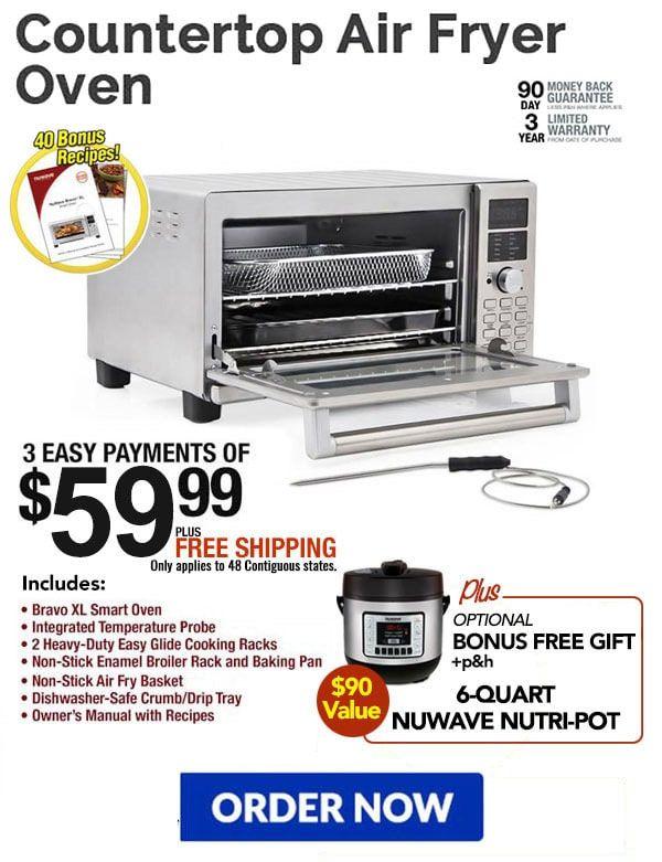 Nuwave Bravo Xl Air Fryer Smart Oven The Smart Countertop Home