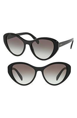 d1b8fa31829e PRADA Designer Tapestry Evolution 55mm Cat Eye Sunglasses