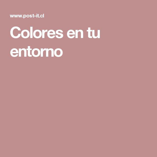 Colores en tu entorno