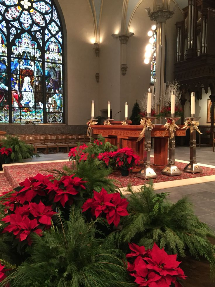 23 best church christmas deco images on pinterest church for Christmas church decoration ideas