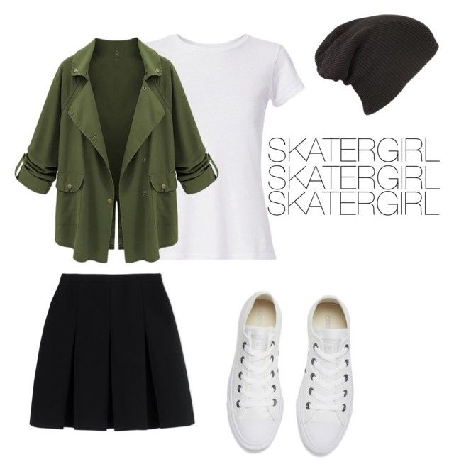 """""""SKATERGIRL"""" by flobetty on Polyvore featuring Mode, Hanes, Alexander Wang und Converse"""