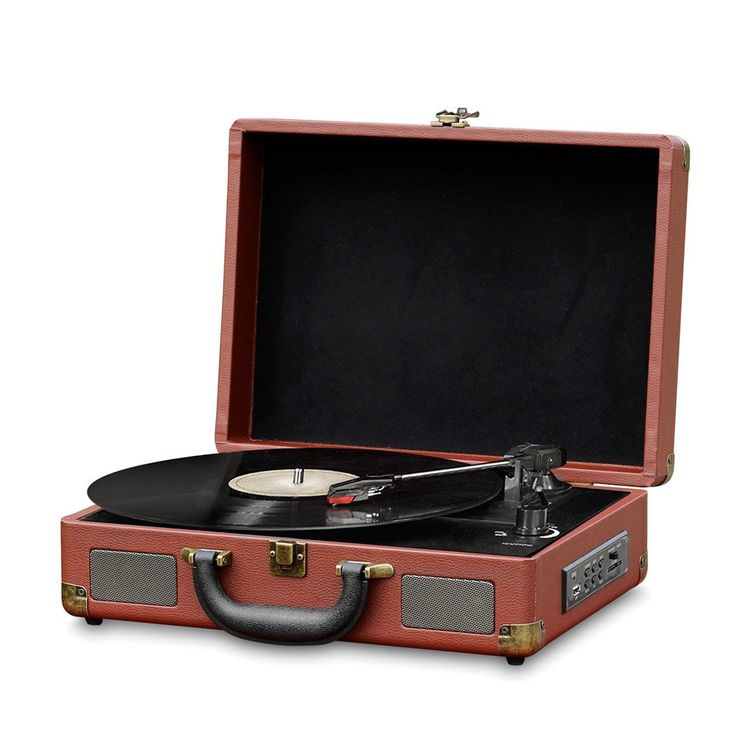 Amazon.com: Record Player Turntable Old Fashioned Bluetooth Vinyl-to-MP3 Recording, MP3/USB/SD Readers, Briefcase-Style With Built In Speaker By Pyle -Brown (PVTTBT9BR): Electronics