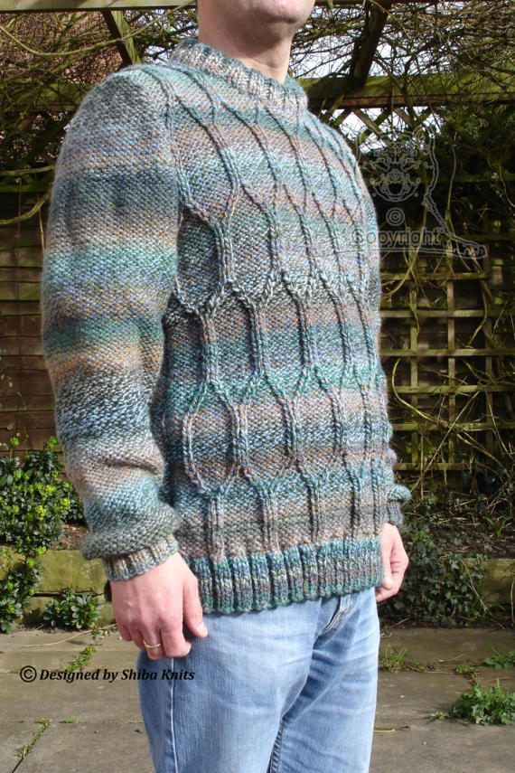 Chunky Adult Jumper Ladies Cabled Sweater Mens by ShibaKnits