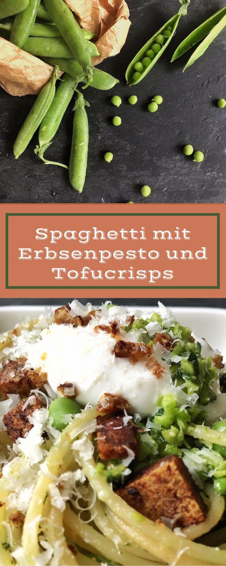 Feines, vegetarisches Nudelrezept, angelehnt an Jamie Olivers Skinny Carbonara Pasta, Nudeln, vegetarisch, Tofu, Erbsen, Rezept