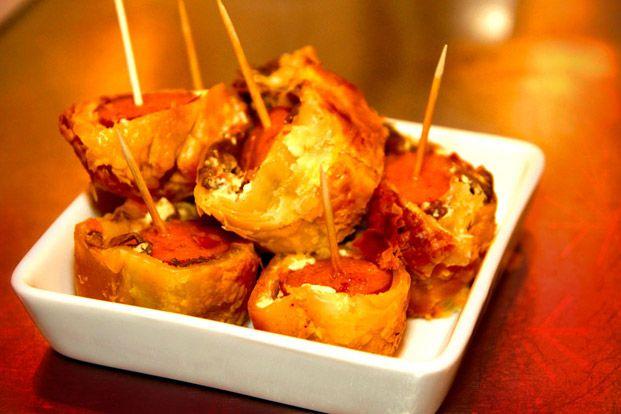 Chorizo- och svamprullar