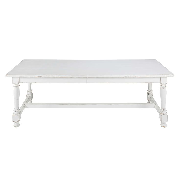 table de salle manger en peuplier blanc vieilli l240cm martha